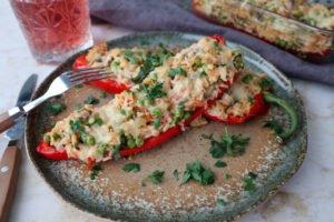 Gevulde paprika met rijst