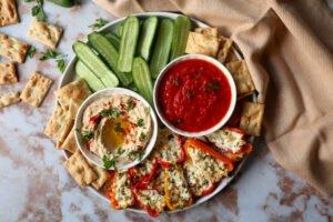 Gevulde snackpaprika met Feta kaas
